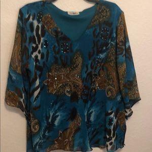 Exotic print blouse